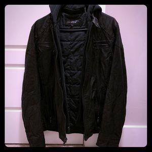 NWT Men's Wilsons Leather Jacket (Black Rivet)